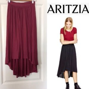 Aritzia Talula Chouette High-Low Skirt | Mulberry